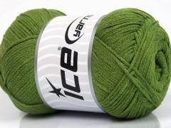 Přírodní bavlna air - zelená 1