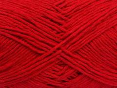 Přírodní bavlna - červená