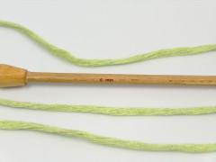 Přírodní bavlna chunky - světle zelená
