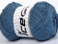 Přírodní bavlna - jeansově modrá