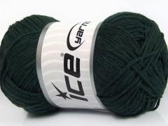 Přírodní bavlna - tmavě zelená 1