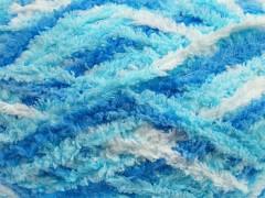 Puffy - modrotyrkysovobílá