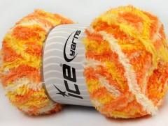 Puffy - oranžovožlutokrémová