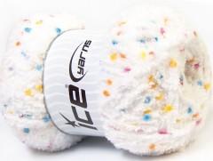 Puffy pompom - bílá