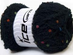 Puffy pompom - černá