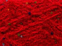 Puffy pompom - červená