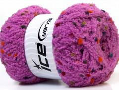 Puffy pompom - levandulová