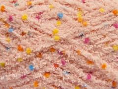 Puffy pompom - pudrově růžová