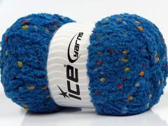 Puffy pompom - tmavě modrá