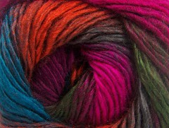 Rainbow - fuchsiovovínovotmavězelenáměděnotyrkysová
