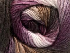 Rainbow - hnědofialovobílá