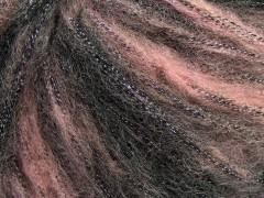Rock star metallic - světlerůžovočerná