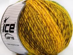 Roseto worsted - žlutozlatohnědozelená
