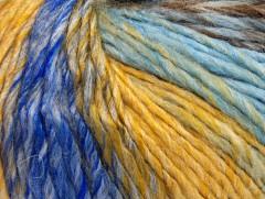Roseto worsted - žlutžlutomodrošedohnědá