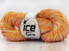 Ručně barvená bavlna plus - oranžová