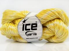 Ručně barvená bavlna plus - žlutá