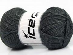 Silk merino DK - antracitově černá
