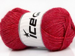 Silk merino DK - ostře červená