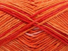 Sky bavlna - červenozlatorůžová