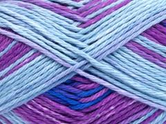 Sky bavlna - modrofialovofuchsiová