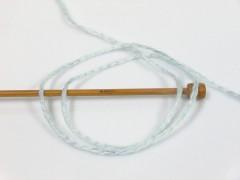 Soft chain vlna - černonámořnickásvětle modrá