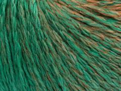 Soft chain vlna - hnědosmaragdovězelená