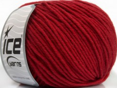 Superwash merino - tmavě červená