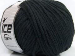 Superwash vlna bulky - černá 1