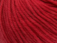 Superwash vlna bulky - červená