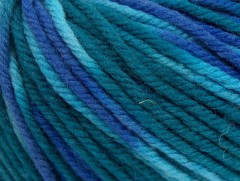 Superwash vlna bulky color - modrozelená