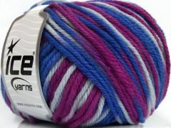 Superwash vlna bulky color - purpurovomodrá