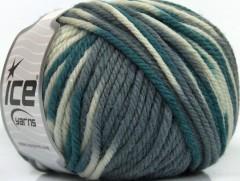 Superwash vlna bulky color - šedobílé odstíny