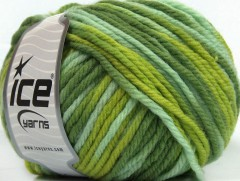 Superwash vlna bulky color - zelené odstíny