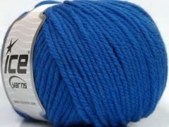 Superwash vlna bulky - modrá