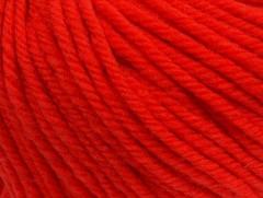 Superwash vlna bulky - rajčatovo červená