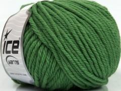 Superwash vlna bulky - tmavě zelená