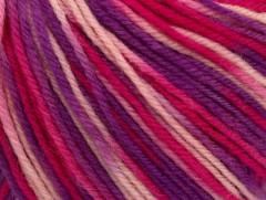 Superwash vlna color - purpurovorůžovo odstíny