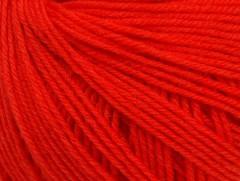 Superwash vlna - rajčatovo červená