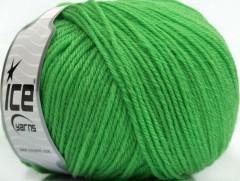 Superwash vlna - zelená světlejší