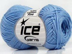 Tube bavlna fajn - světle modrá