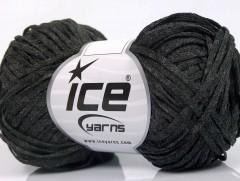 Viskóza ribbon šajn - antracitově černá