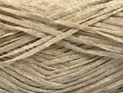 Viskóza ribbon šajn - béžová melánž