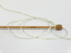 Viskóza ribbon šajn - mátovězelenozlatá