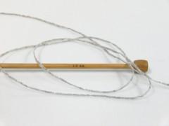 Viskóza ribbon šajn - šedá melánž