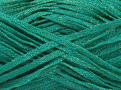 Viskóza ribbon šajn - smaragdovězelenozlatá