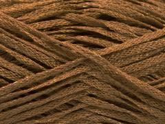 Viskóza ribbon šajn - světle hnědézlatá