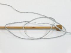 Viskóza ribbon šajn - světle šedosvětle modrá