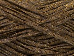 Viskóza ribbon šajn - tmavě hnědázlatá