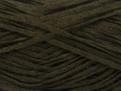 Viskóza ribbon šajn - tmavě khaki