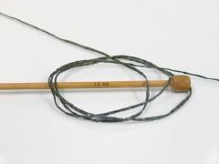 Viskóza ribbon šajn - tmavě šedá
